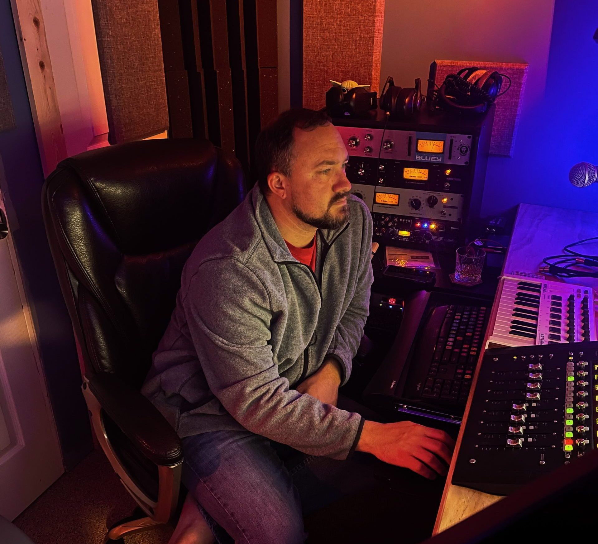 Jason Buck in control room Flushing Michigan